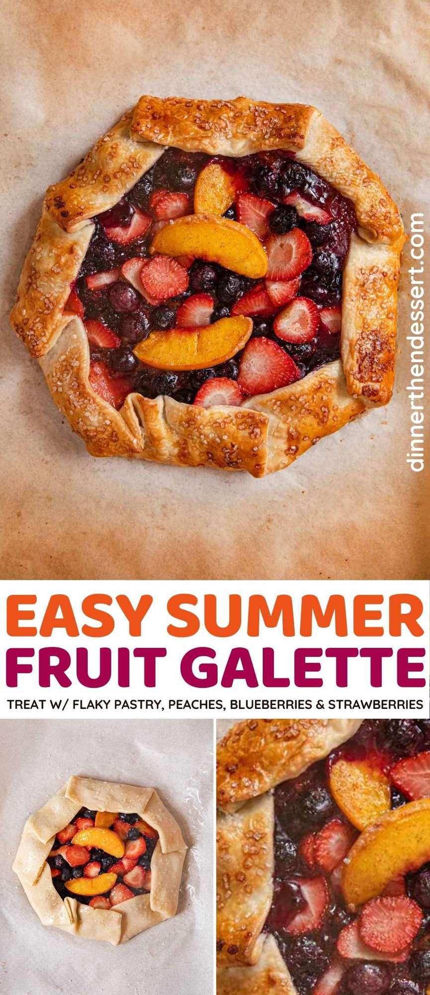 Summer Fruit Galette collage