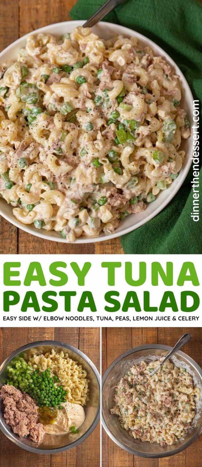 Tuna Pasta Salad collage