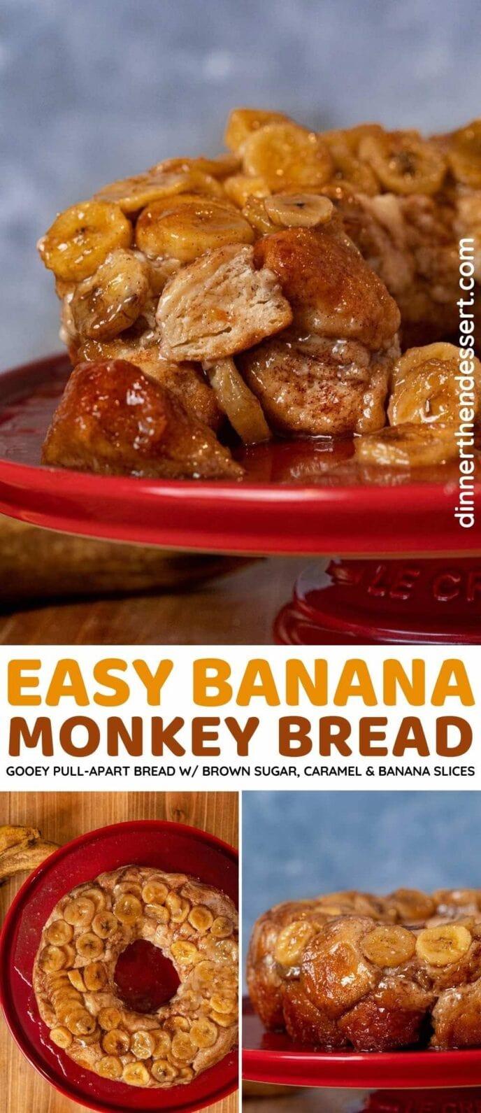 Banana Monkey Bread collage