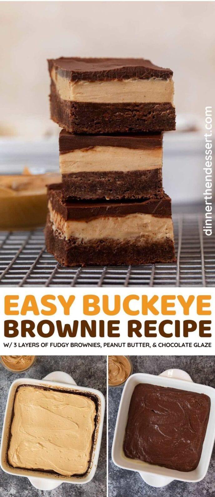 Buckeye Brownies collage