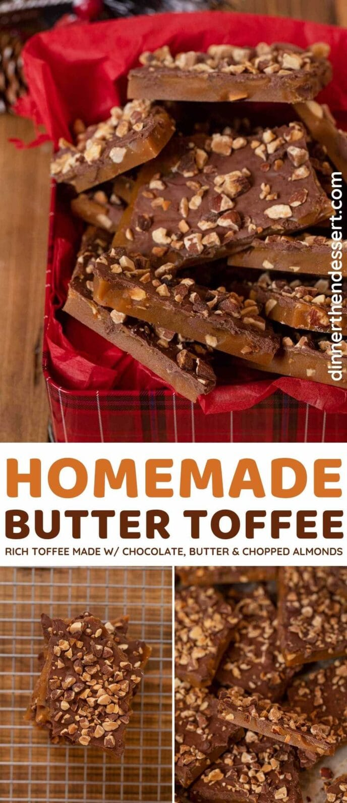 Homemade Butter Toffee collage