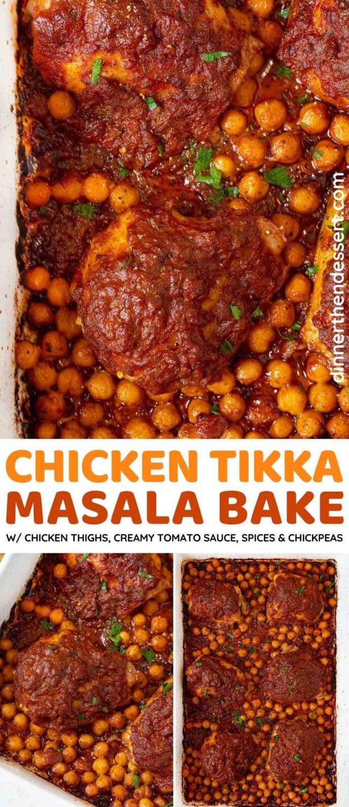 Chicken Tikka Masala Bake collage