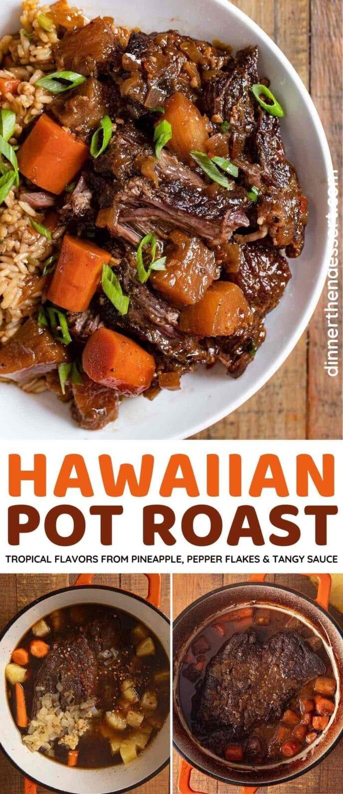 Hawaiian Pot Roast collage