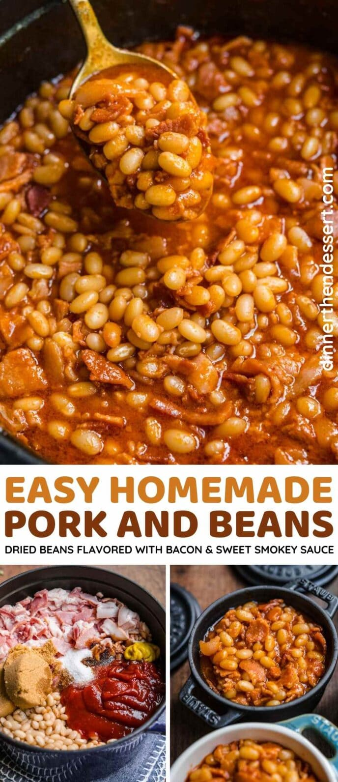 Homemade Pork and Beans collage