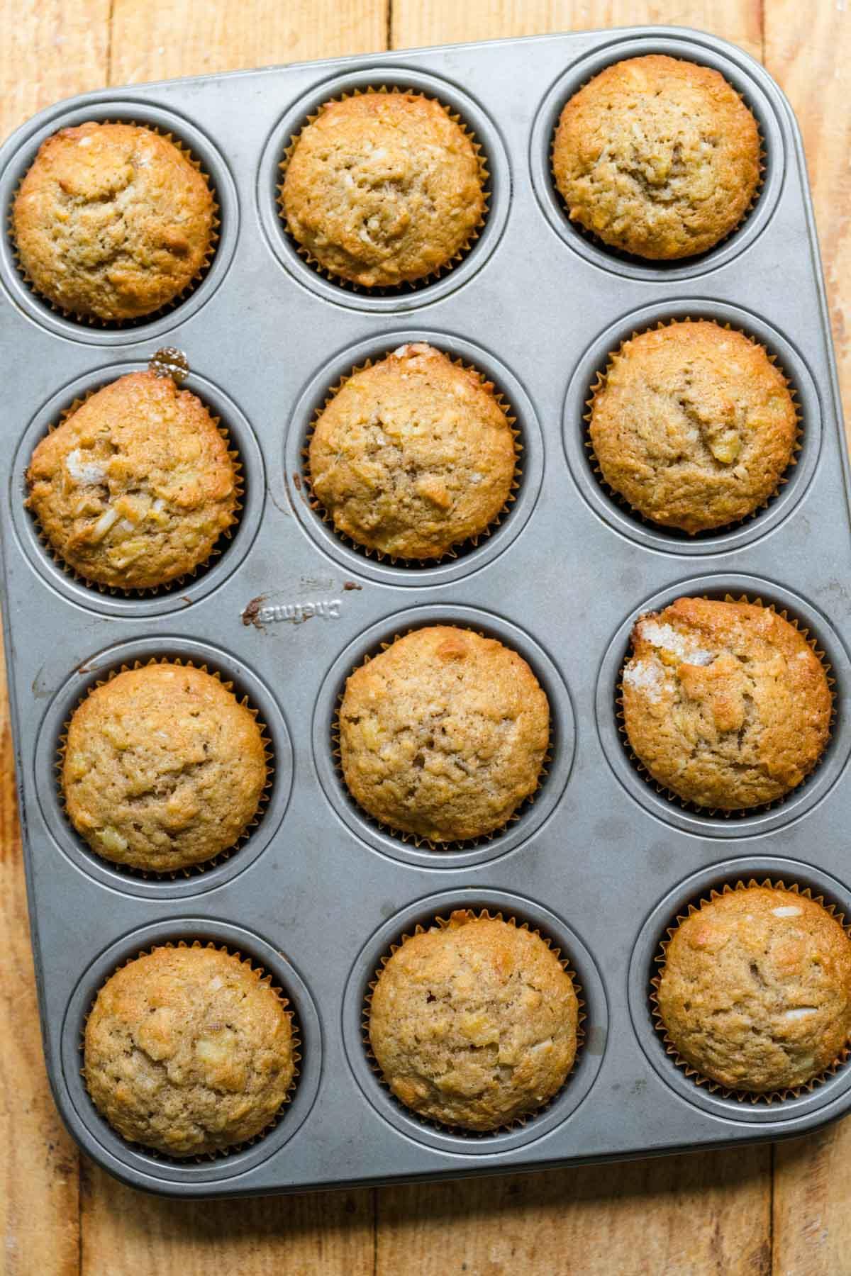 Hummingbird Cupcakes in cupcake pan