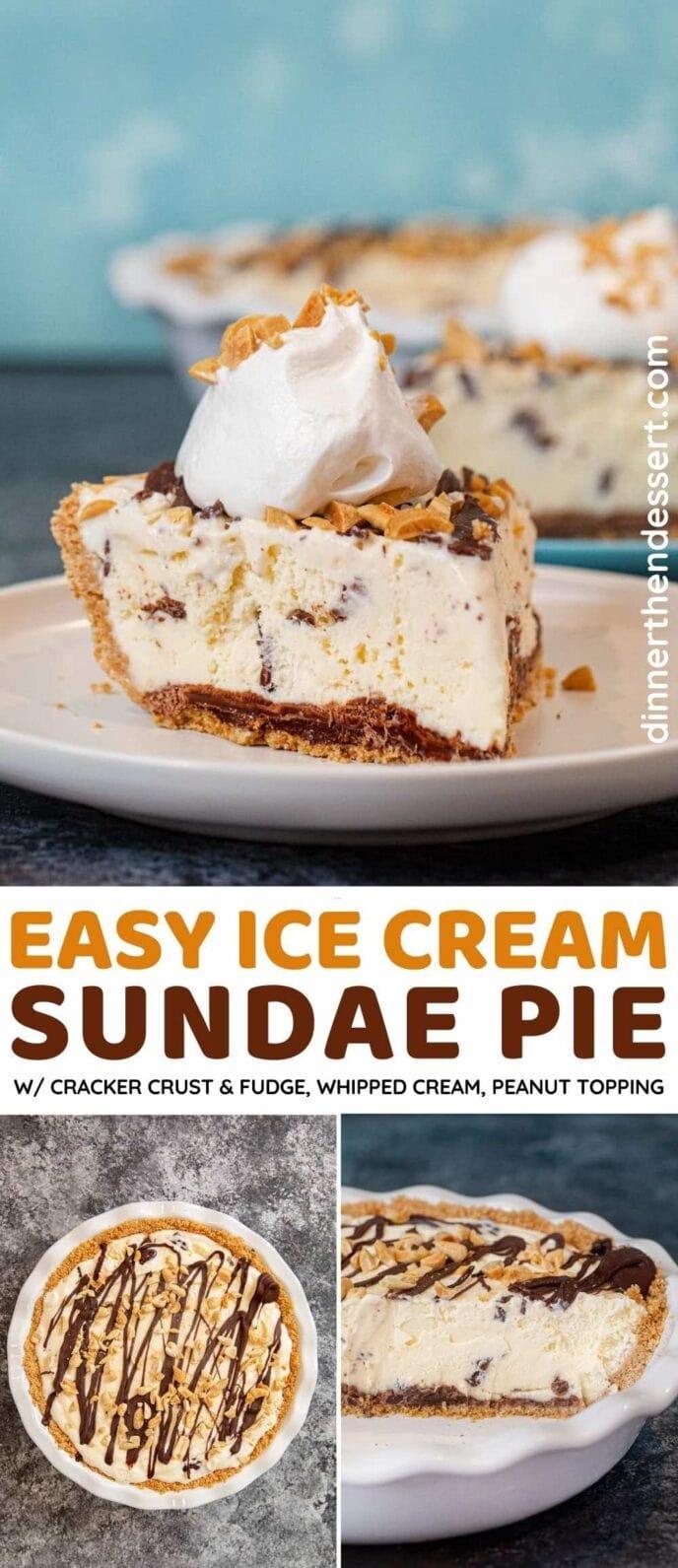 Ice Cream Sundae Pie collage