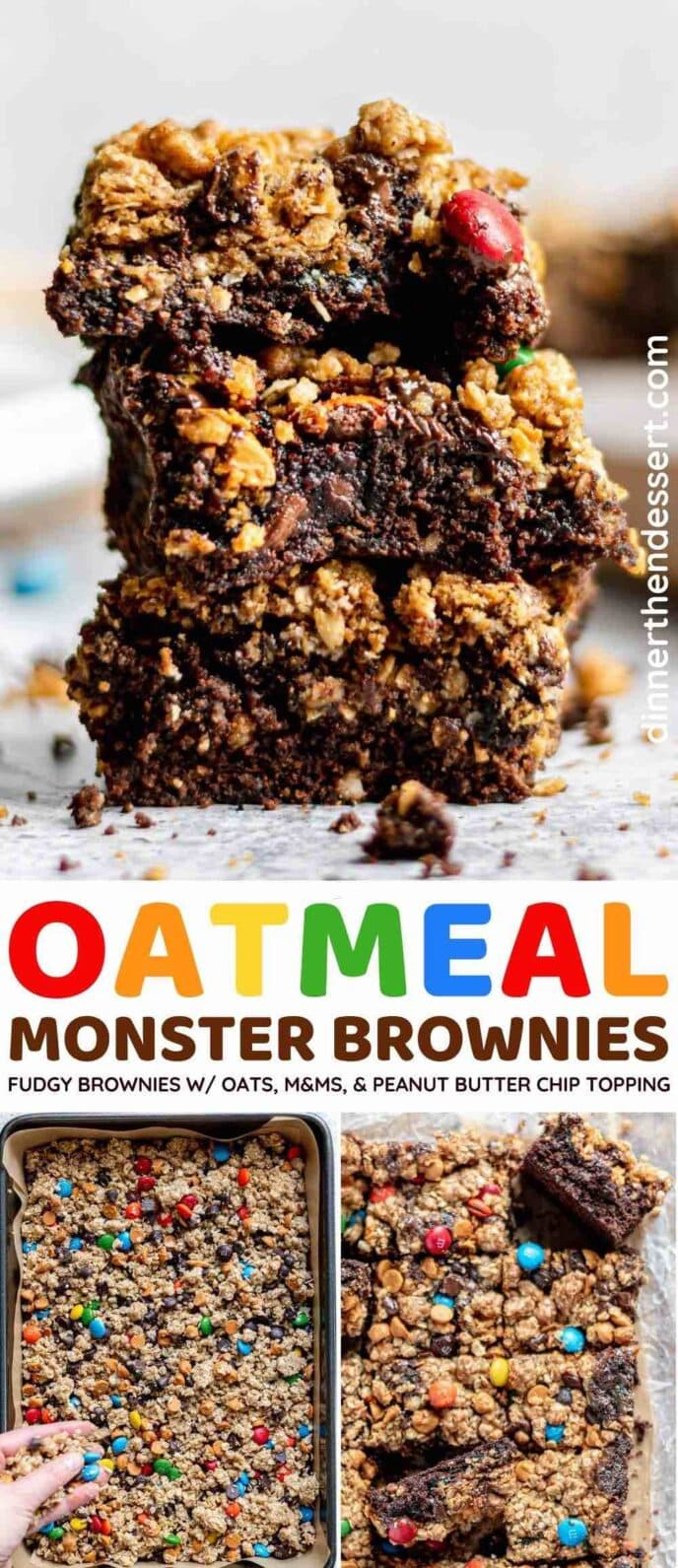 Oatmeal Monster Brownies collage