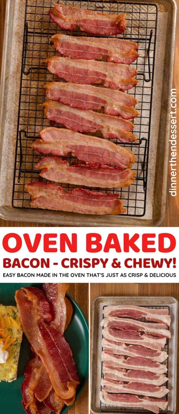 Oven-baked Bacon collage