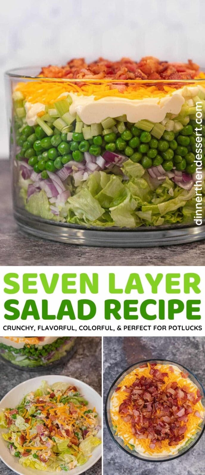 Seven Layer Salad collage