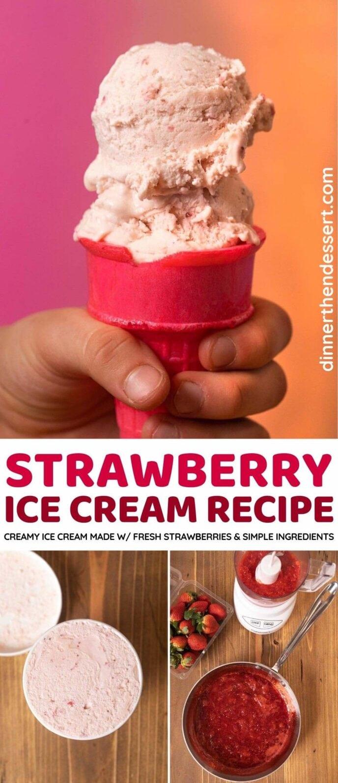 Strawberry Ice Cream photo collage