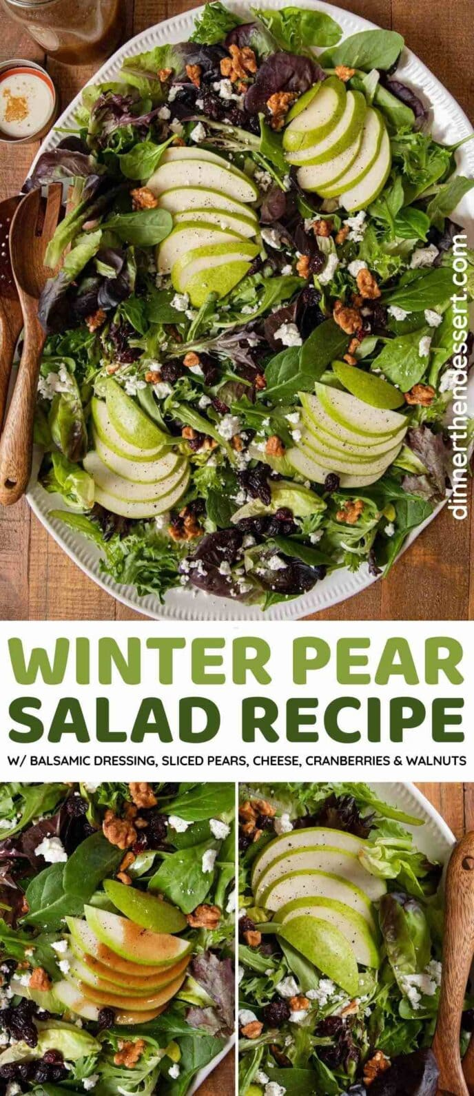 Winter Pear Salad collage