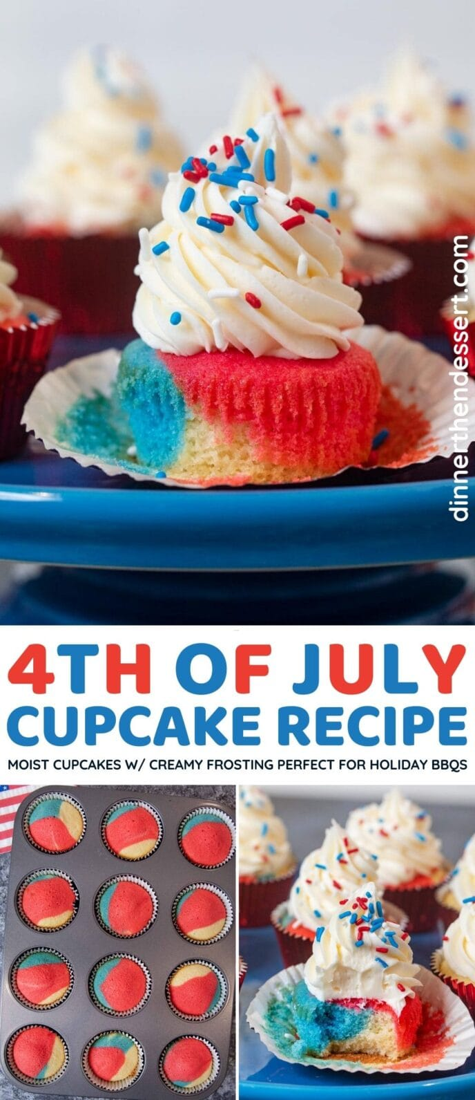 4th of July Cupcakes collage