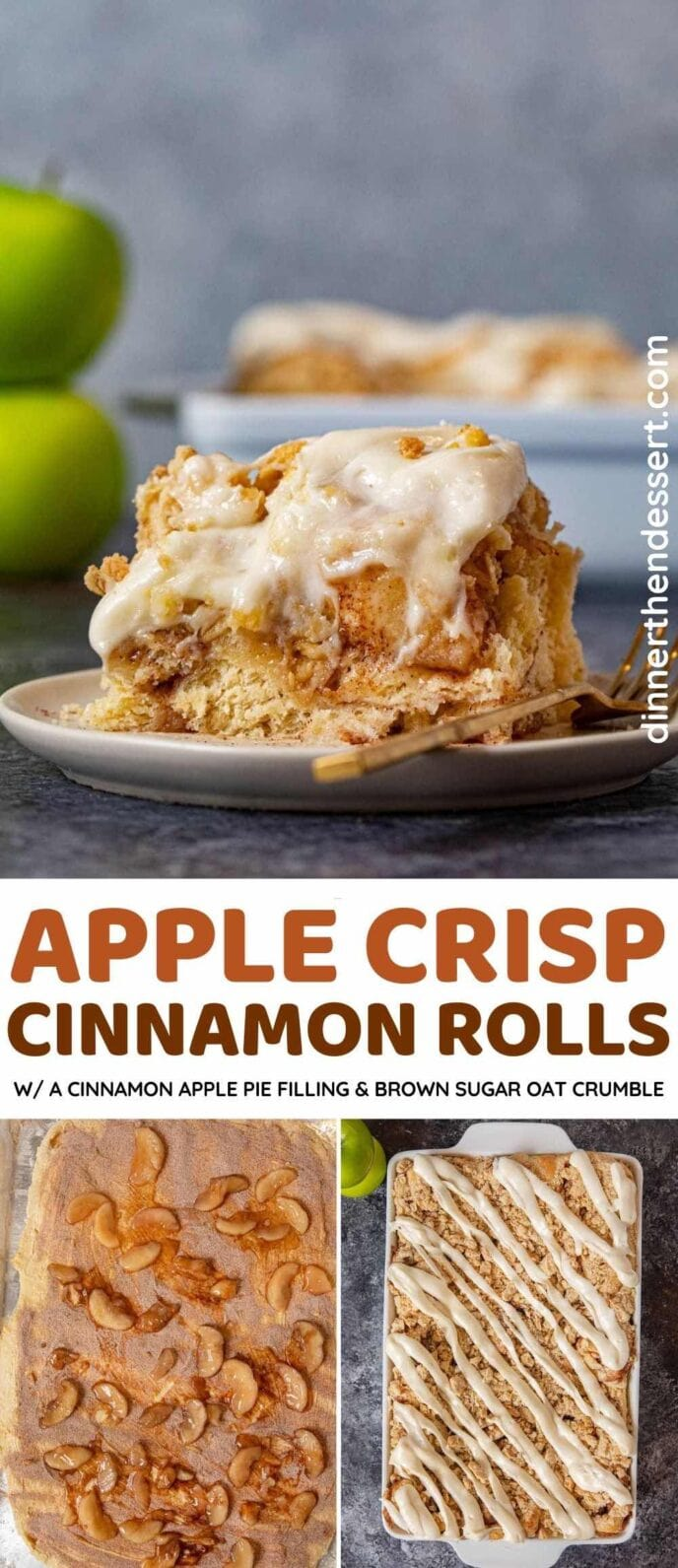 Apple Crisp Cinnamon Rolls collage