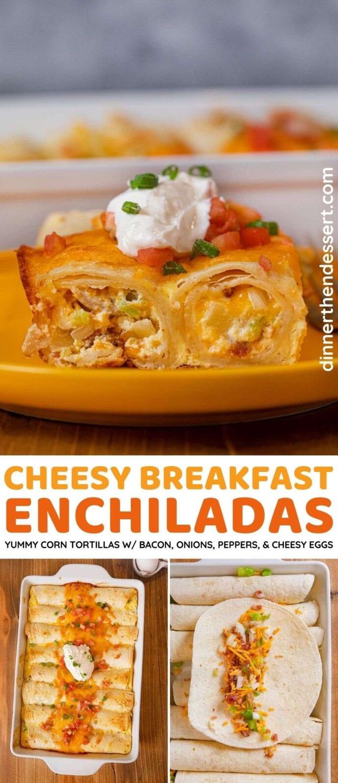 Breakfast Enchiladas collage