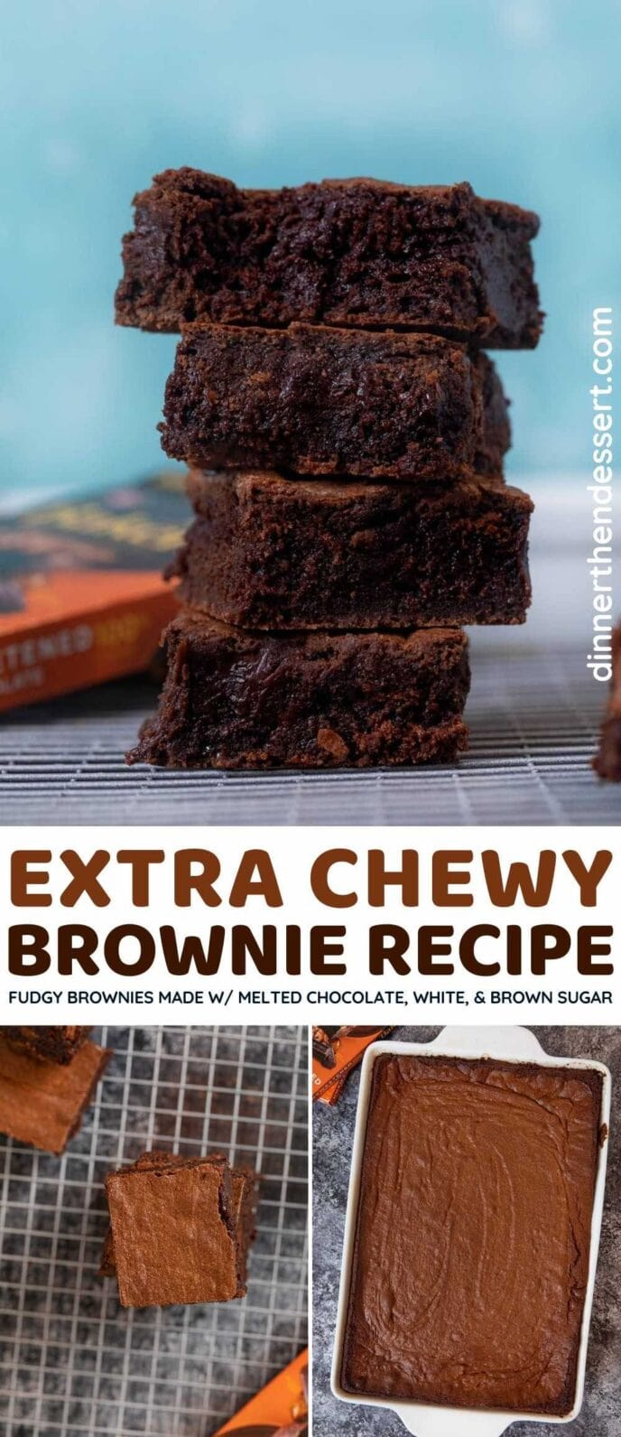 Chewy Brownies collage
