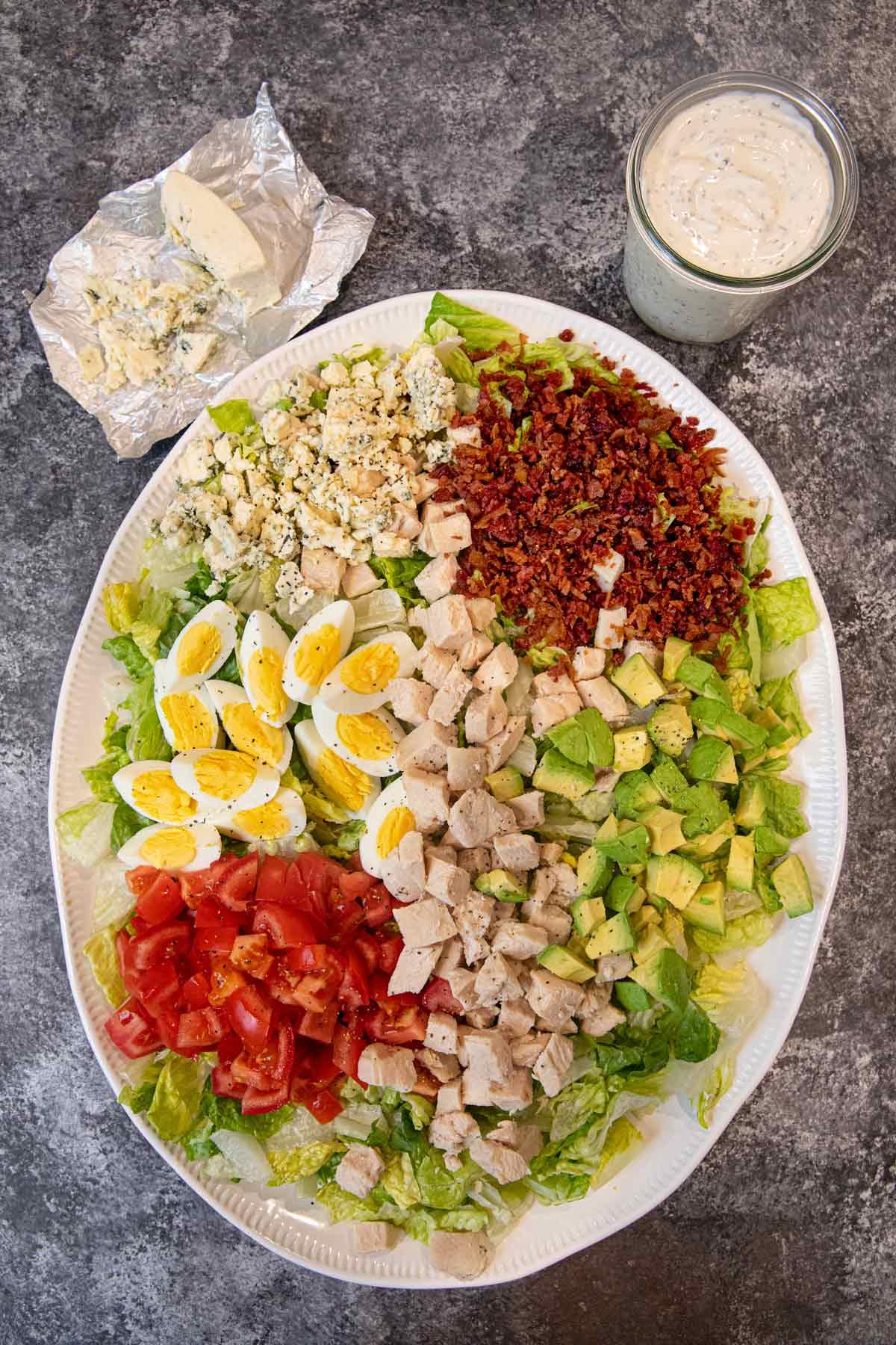 Cobb Salad on serving plate