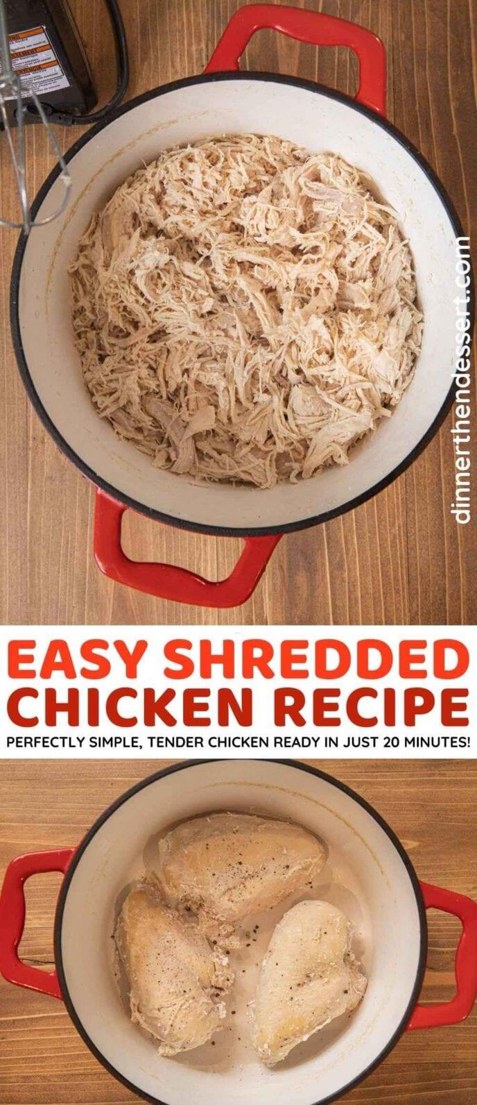 Easy Shredded Chicken collage
