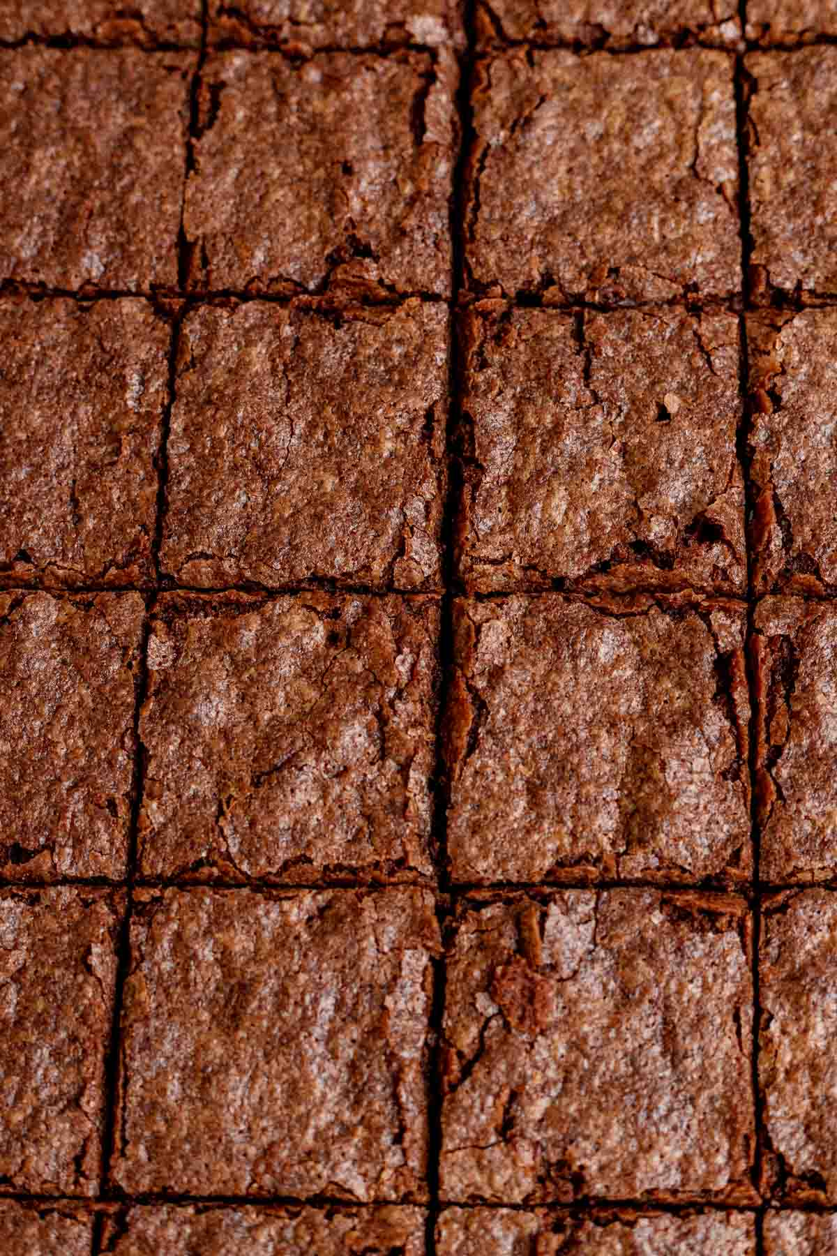 Fudgy Brownies sliced on parchment