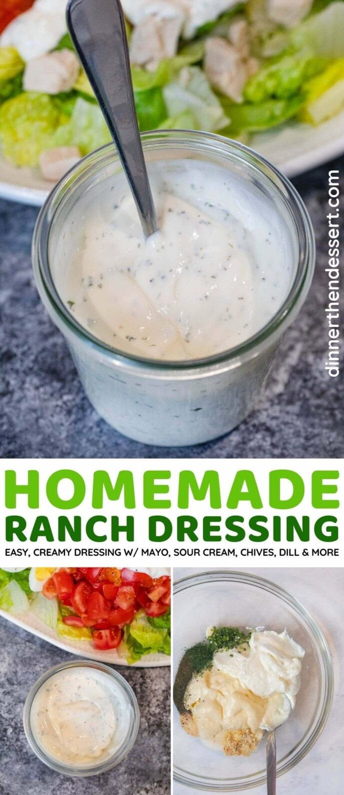 Homemade Ranch Dressing collage