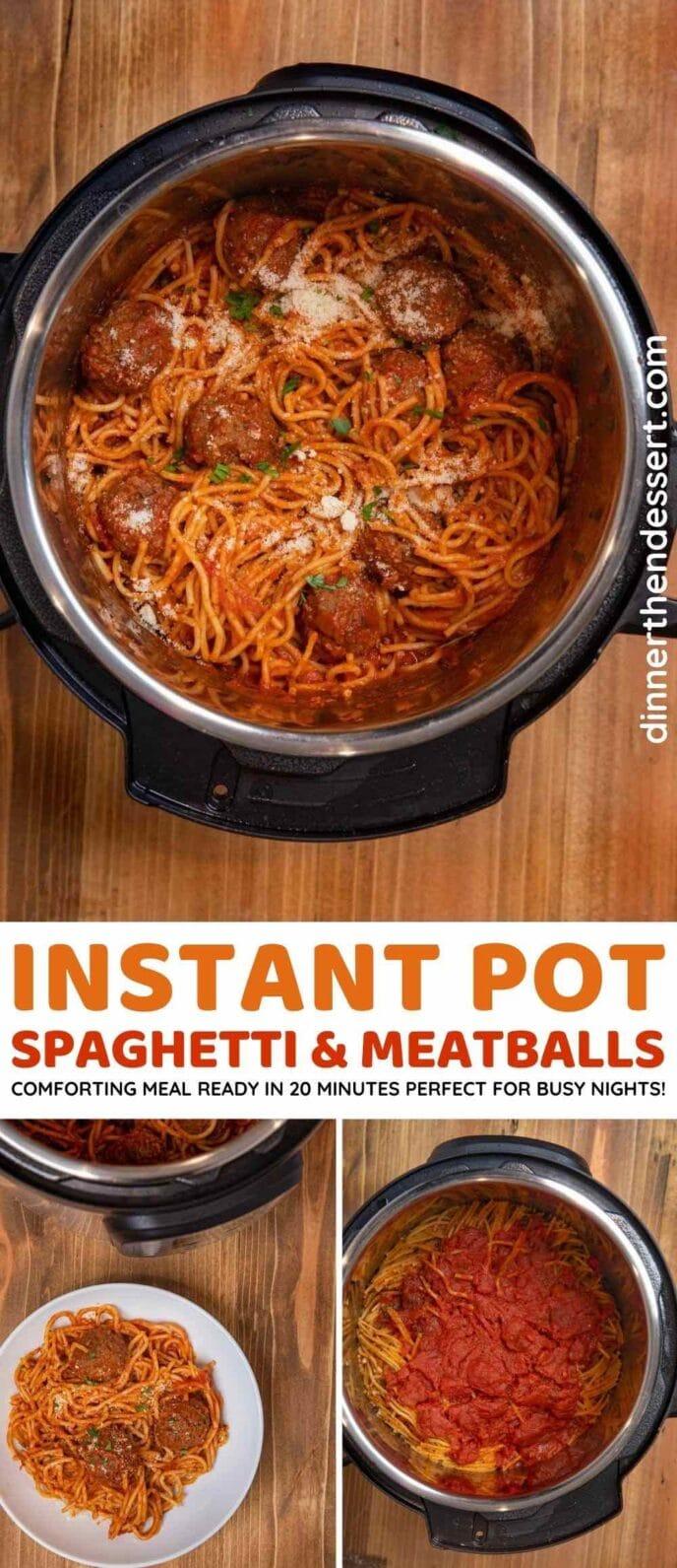 Instant Pot Spaghetti collage