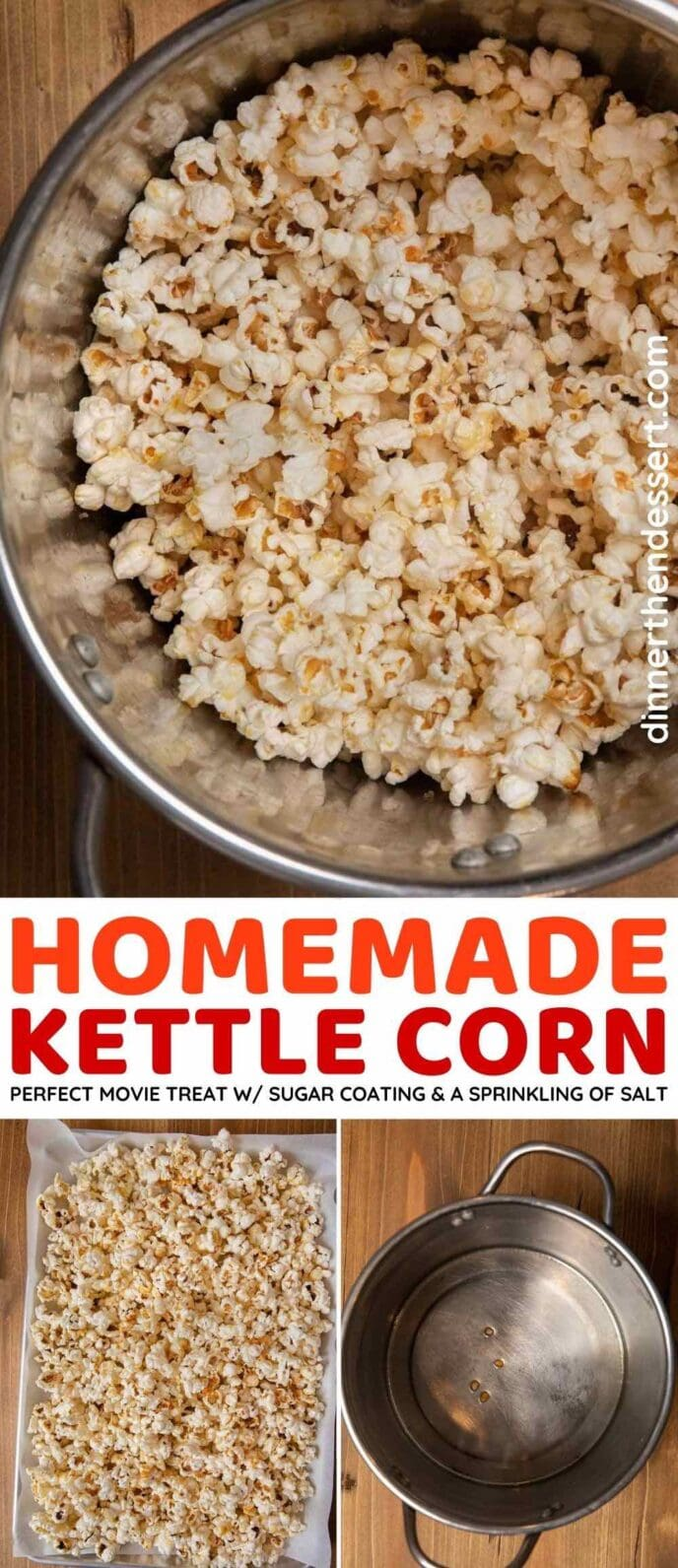 Homemade Kettle Corn collage