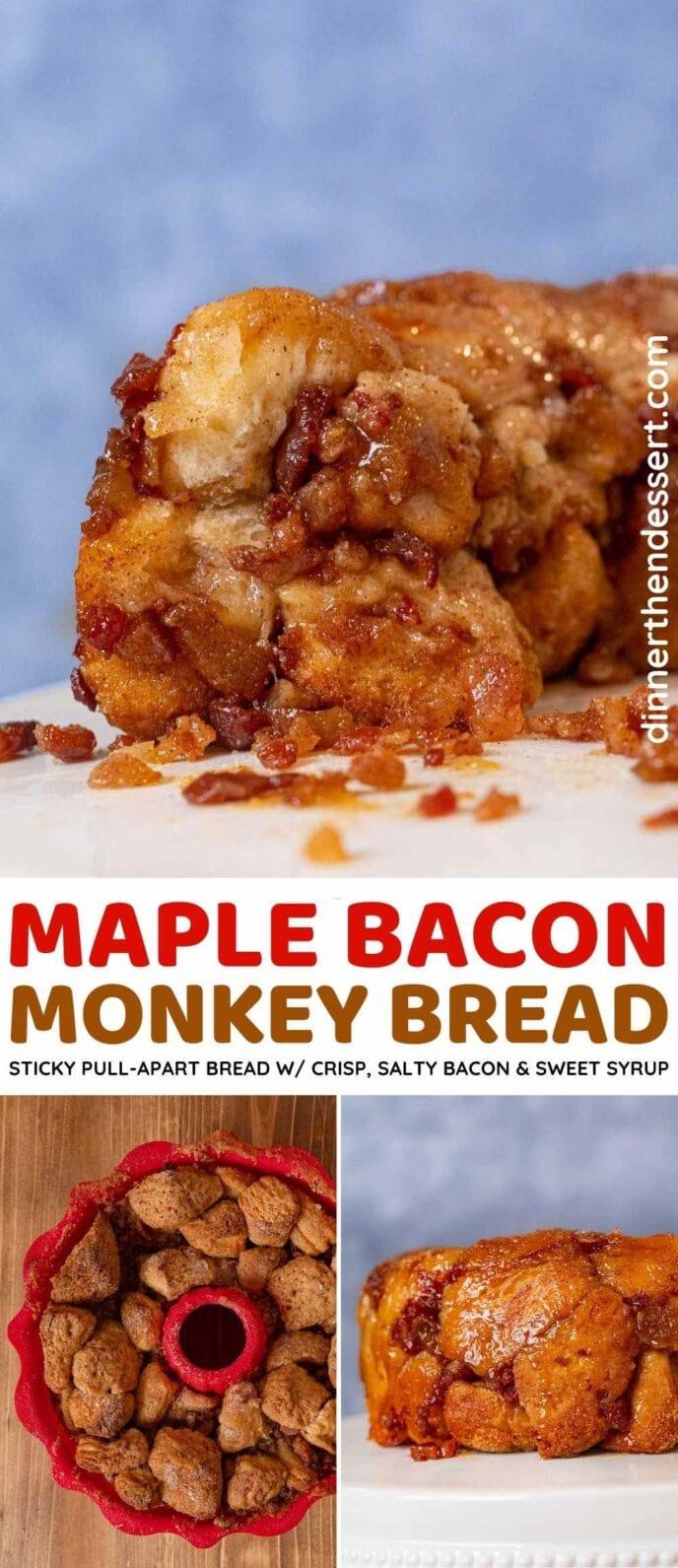 Maple Bacon Monkey Bread collage