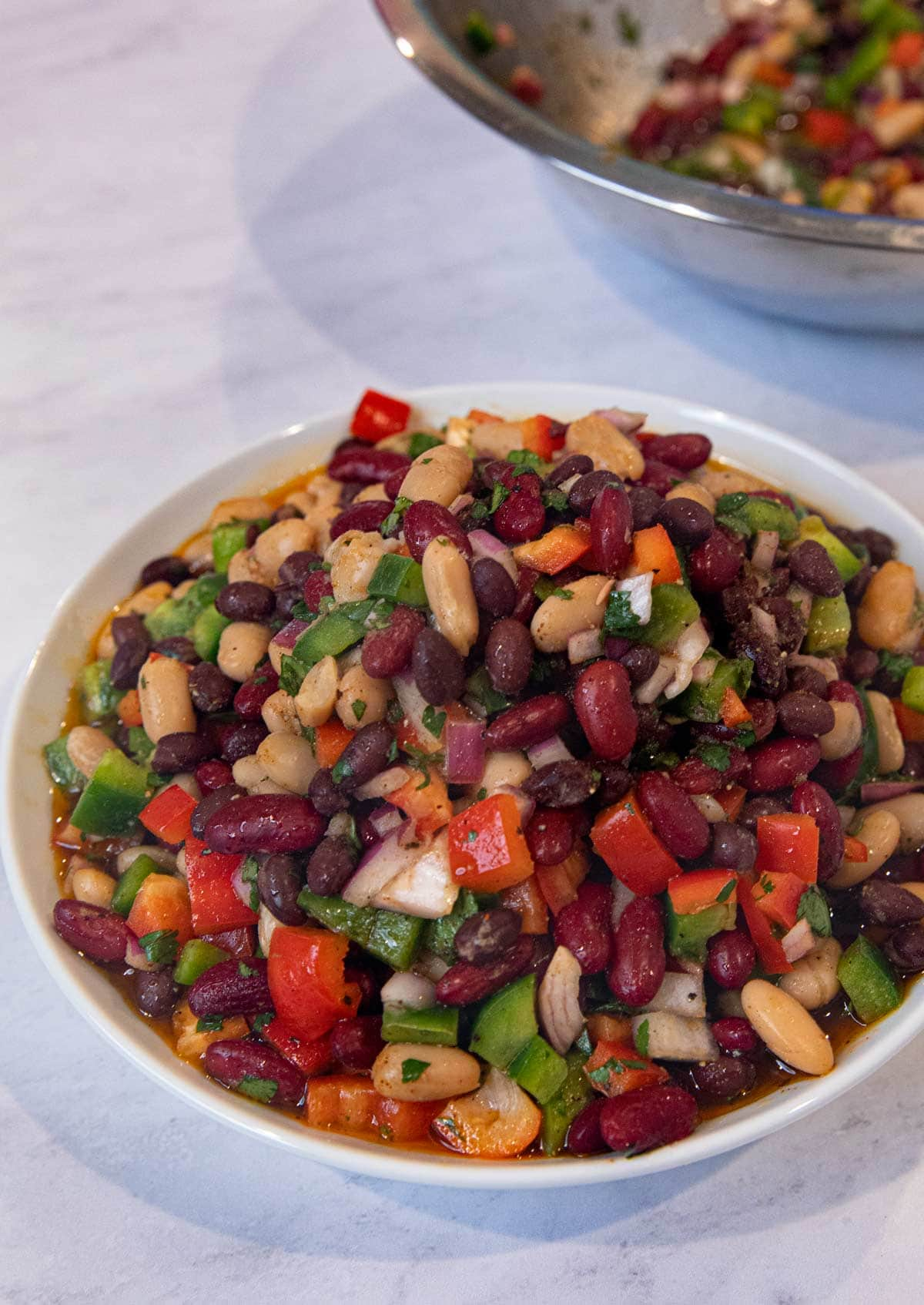 Mexican Bean Salad in bowl