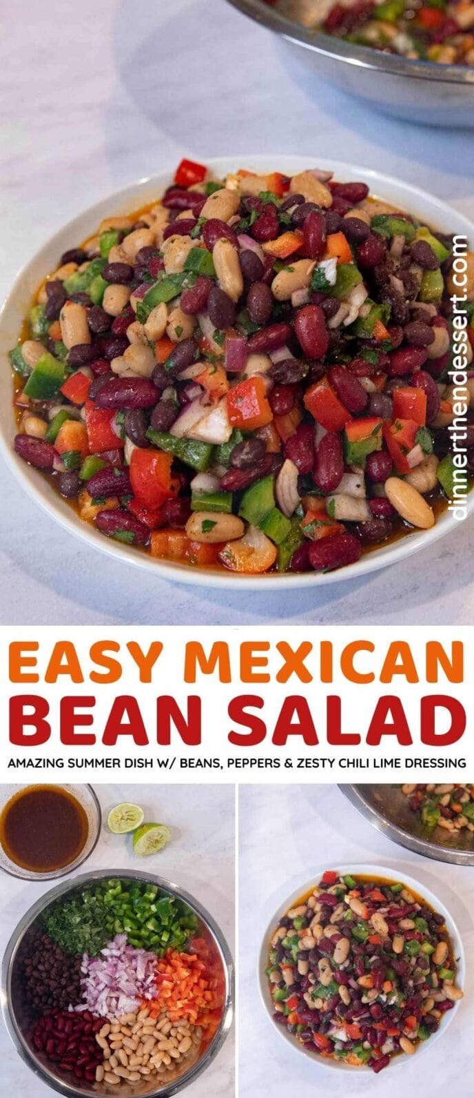 Mexican Bean Salad collage