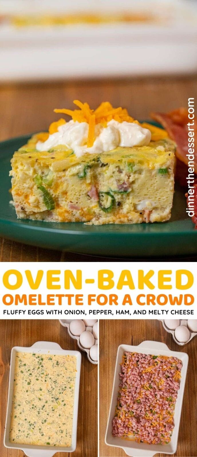 Oven Baked Omelette for a crowd