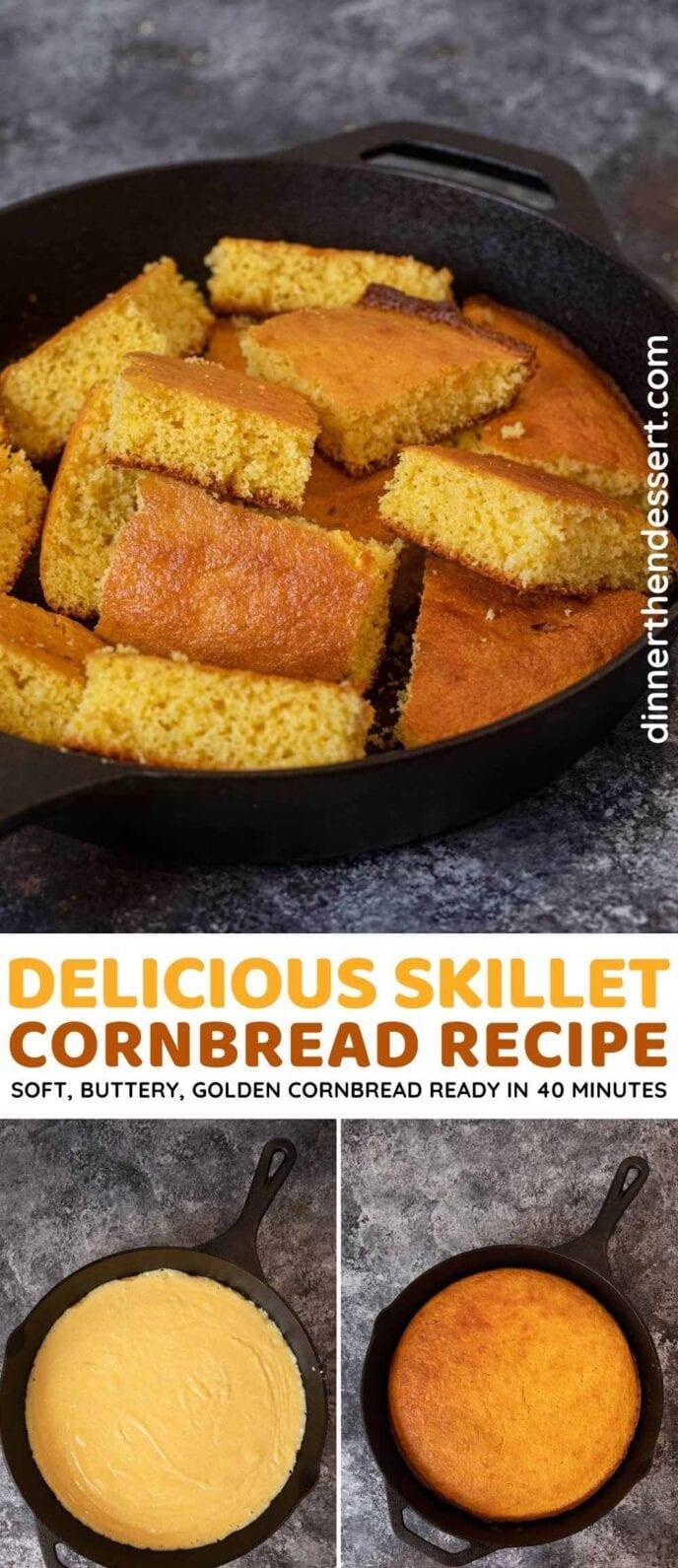 Skillet Cornbread collage