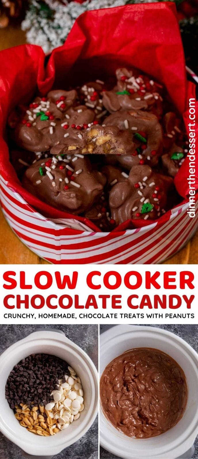 Slow Cooker Chocolate Candy collage