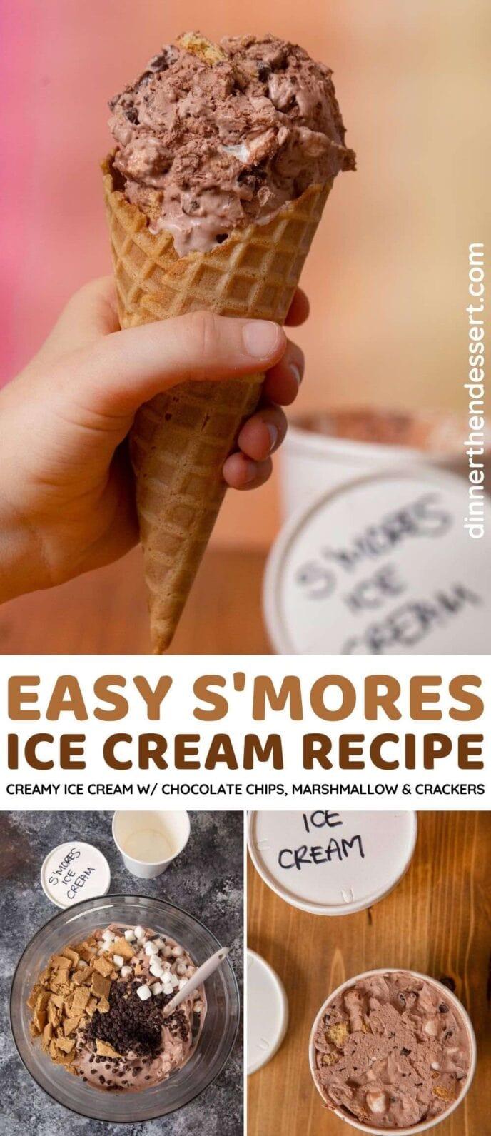 S'mores Ice Cream collage