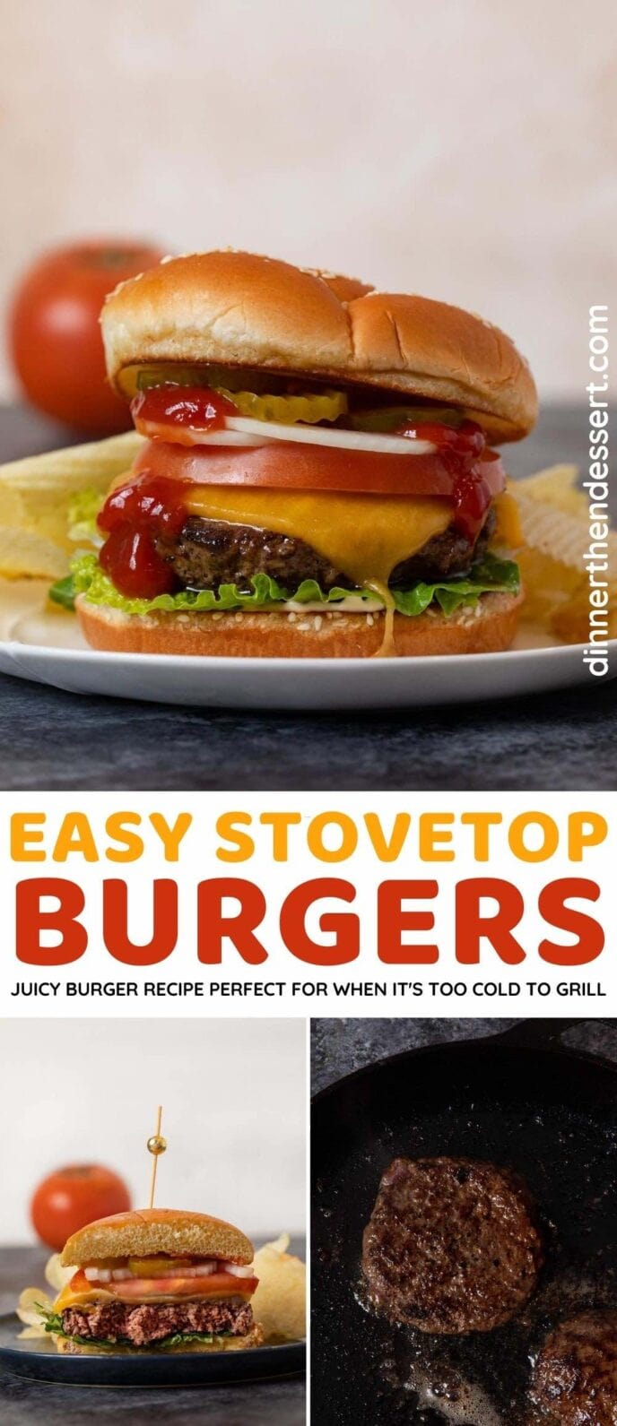 Stovetop Burgers collage