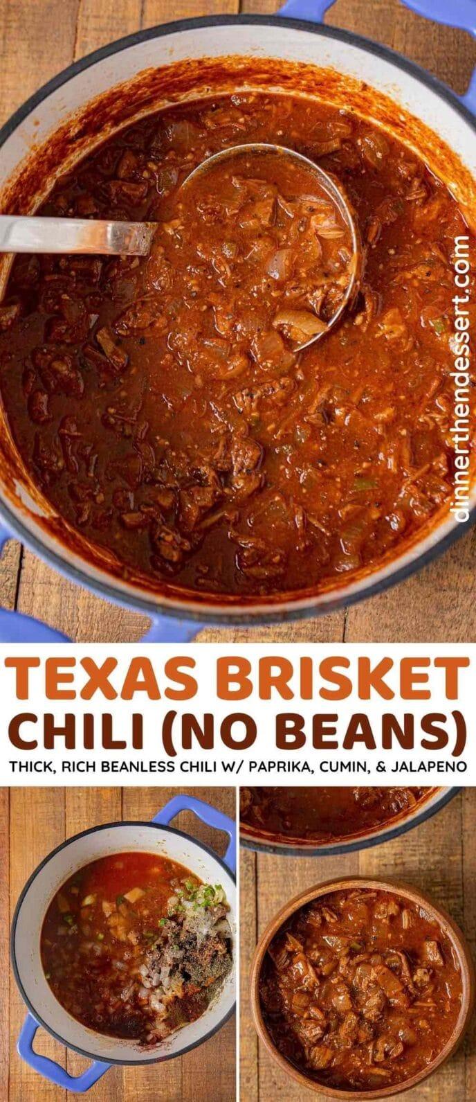 Texas Brisket Chili collage