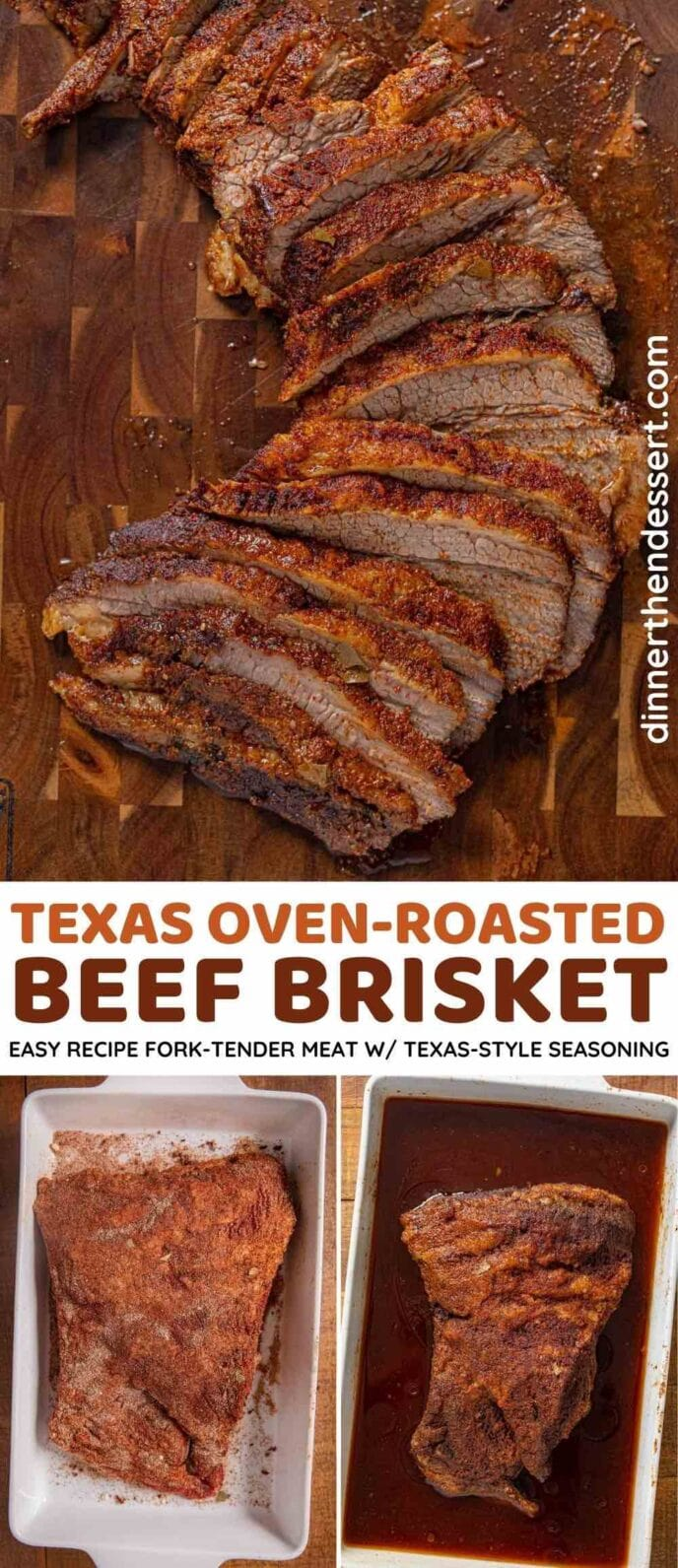 Texas Oven-Roasted Beef Brisket collage