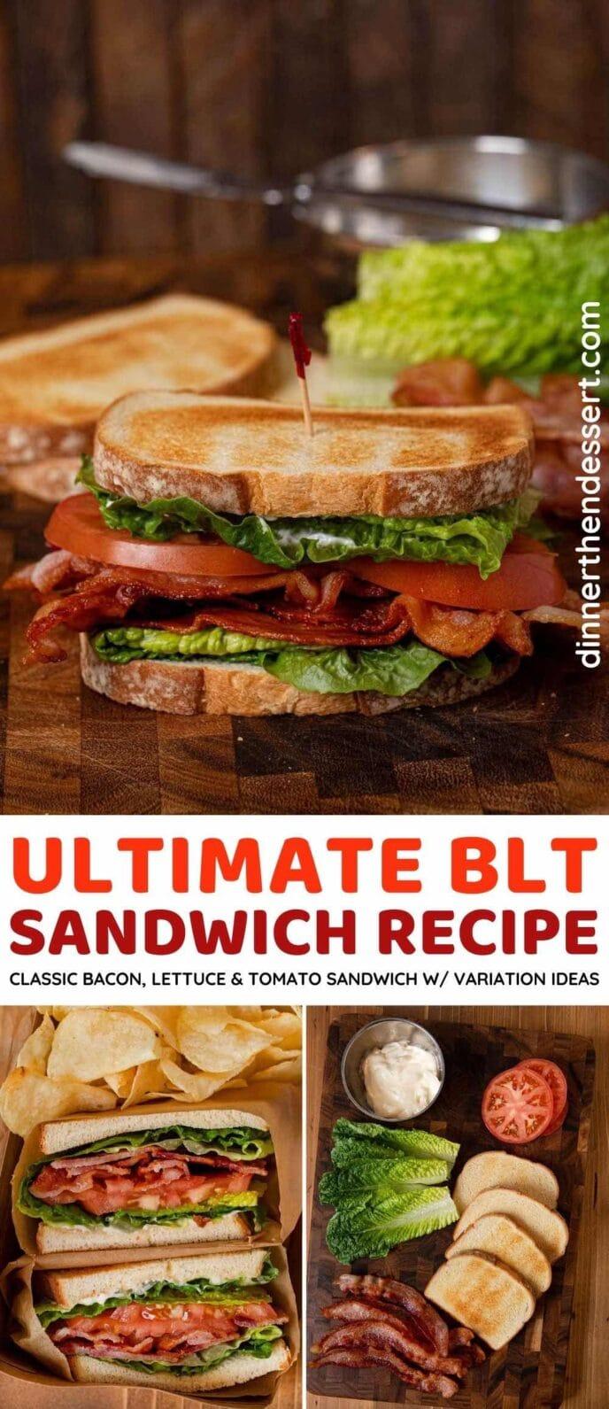 BLT Sandwich collage