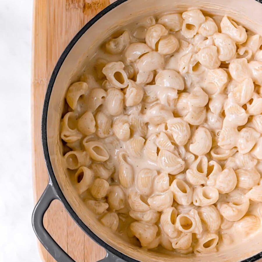 White Cheddar Mac & Cheese in pot