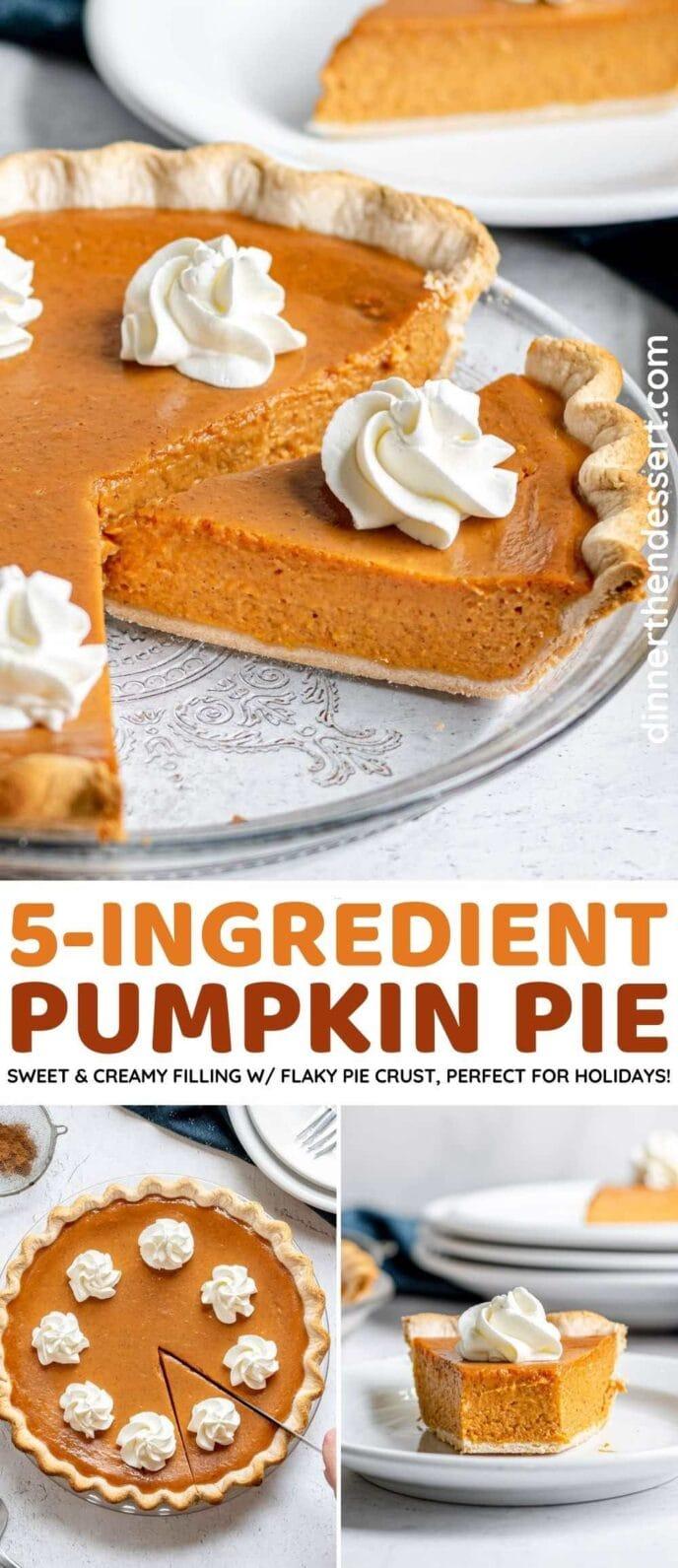 Creamy 5-ingredient pumpkin pie