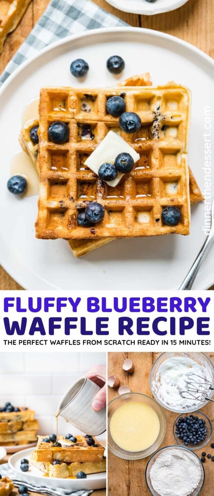 Blueberry Waffles collage