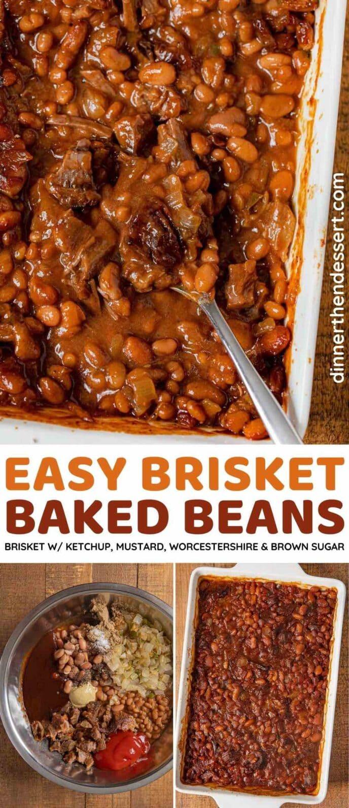 Brisket Baked Beans collage