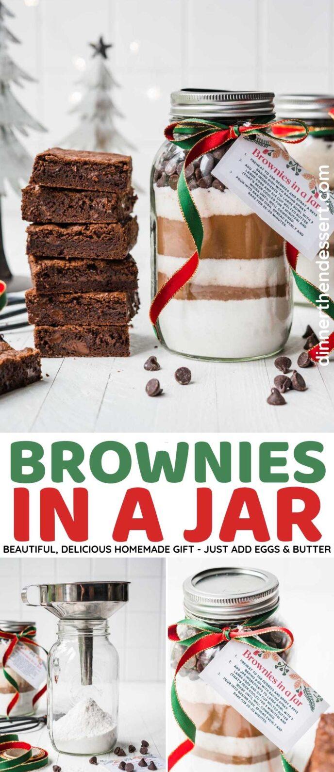 Brownies in a Jar Collage