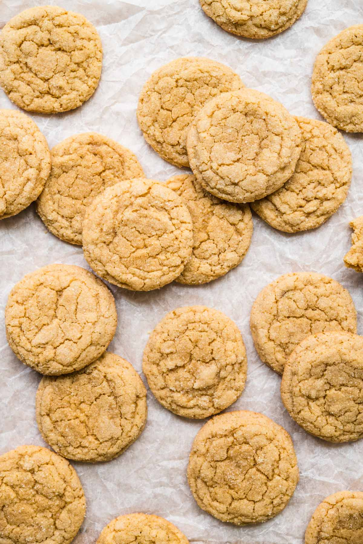 Chewy Maple Cookies on cookie sheet