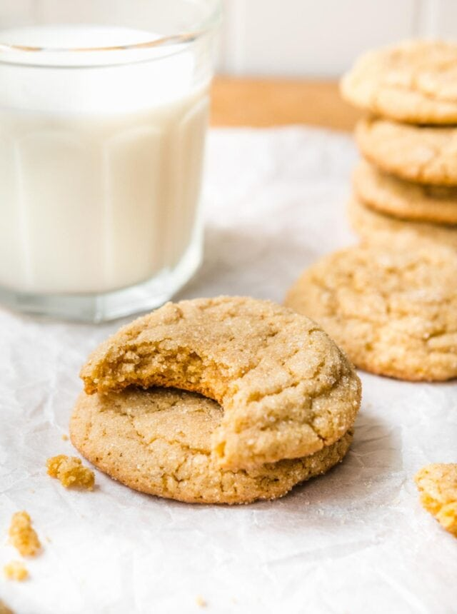 Chewy Maple Cookies with a bite removed