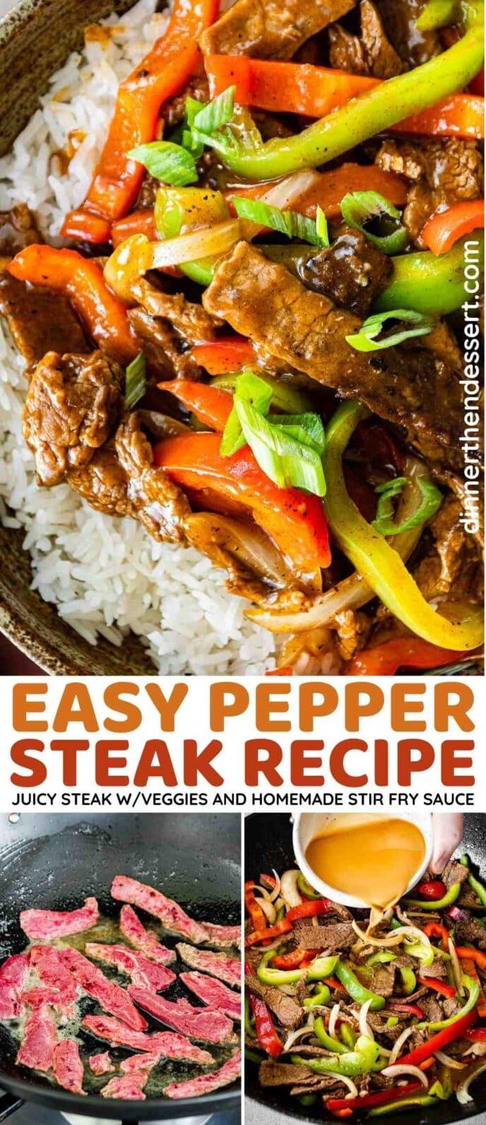 Easy Pepper Steak Collage