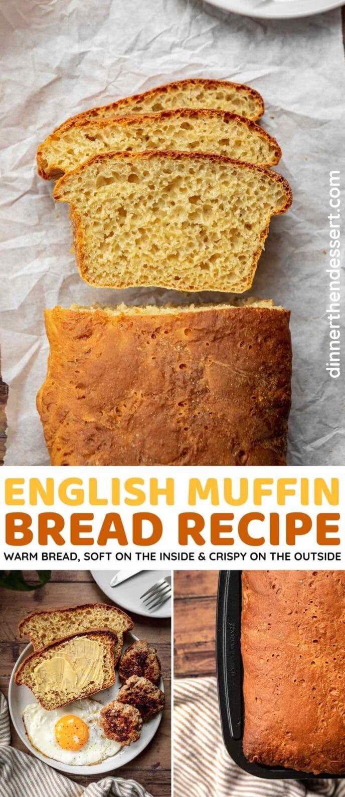 English Muffin Bread collage