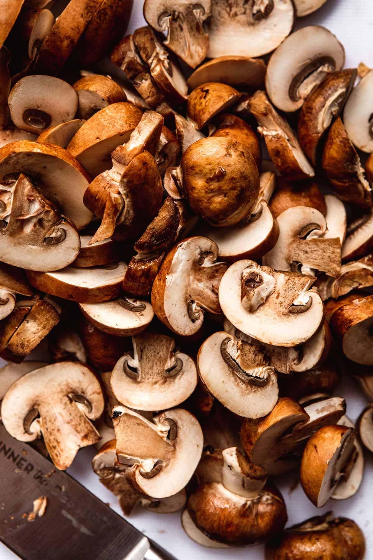 Hamburger Steaks with Mushroom Gravy sliced mushrooms for gravy