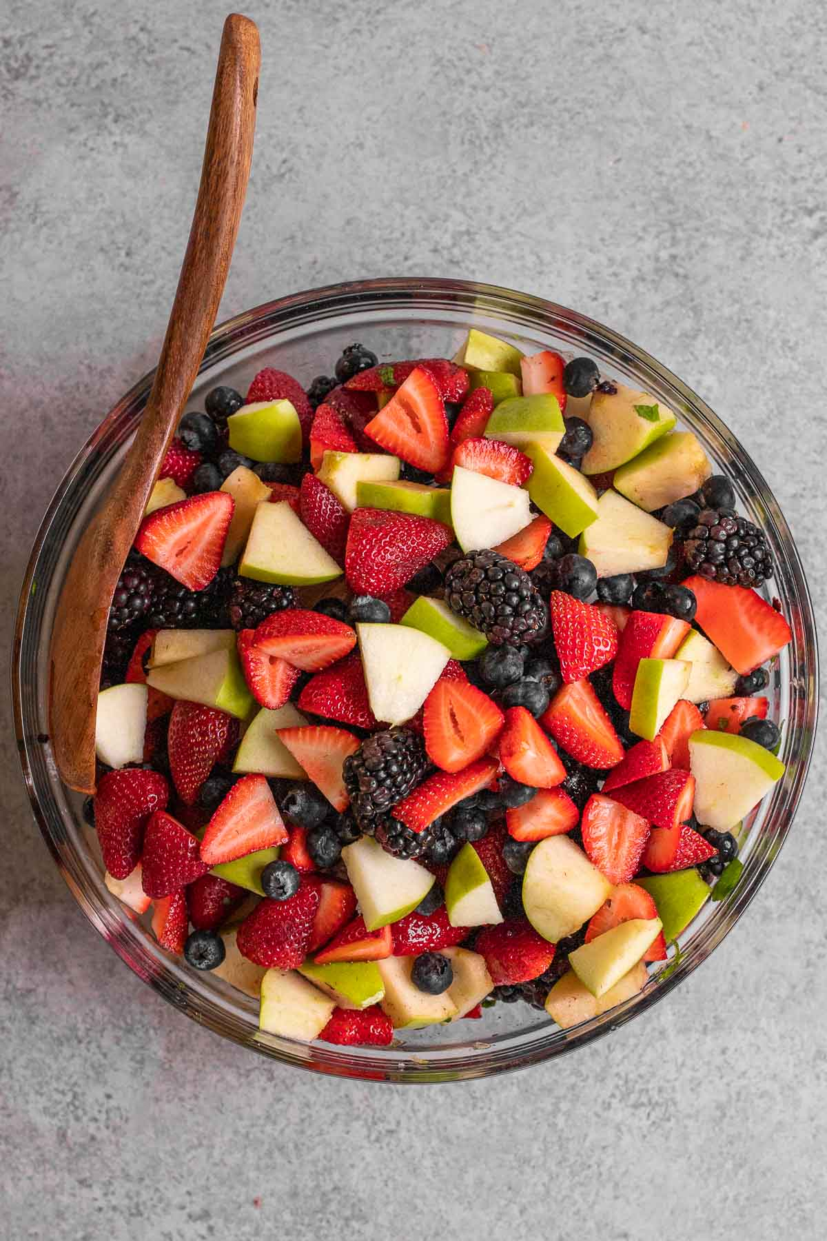 Honey Lime Berry Fruit Salad in bowl
