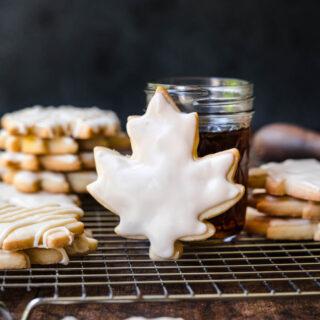 Glazed Maple Shortbread Cookies collage