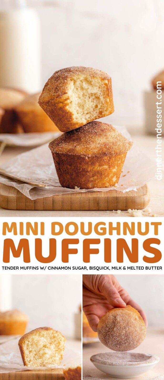 Mini Donut Muffins collage