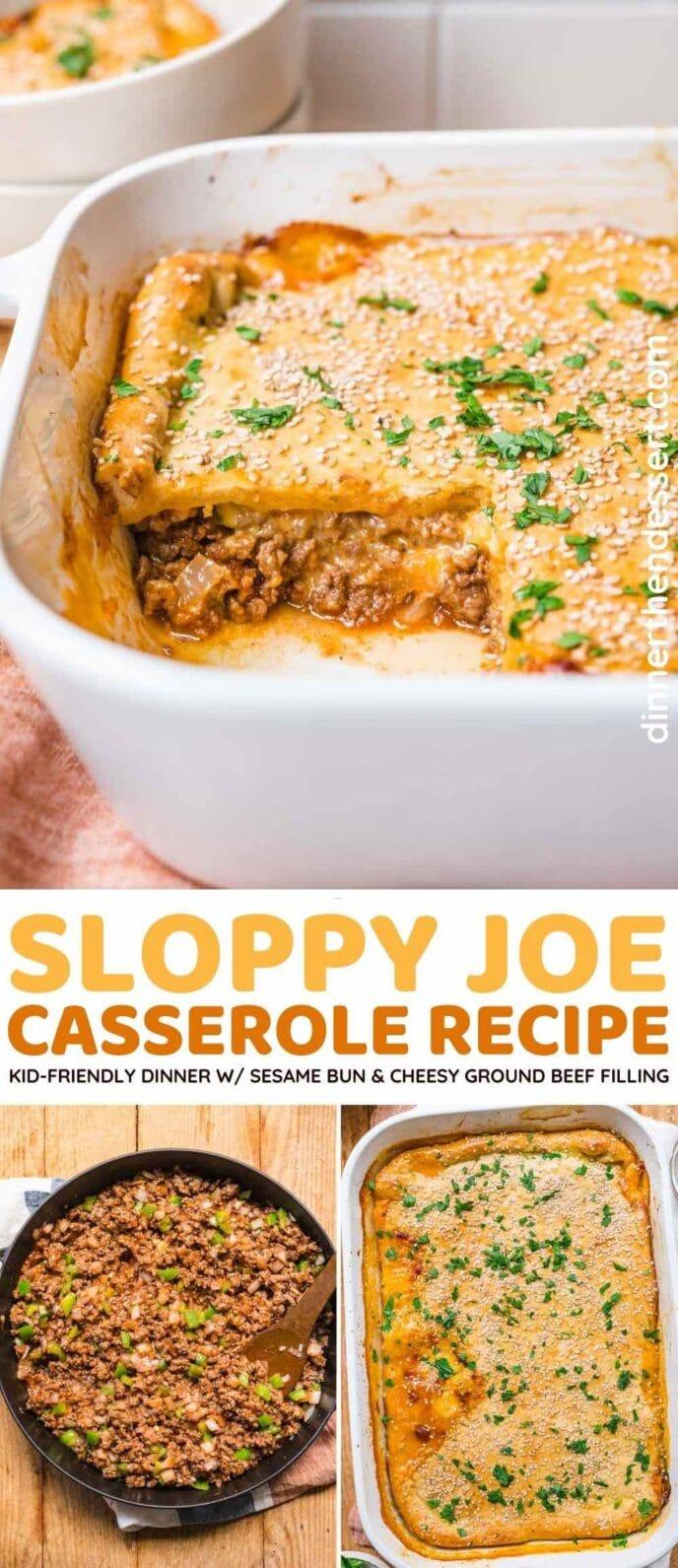 Sloppy Joe Casserole collage